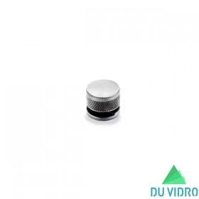 Botão Francês Alumínio Escovado