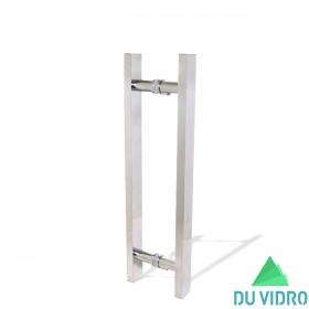 Puxador H Retangular Alumínio