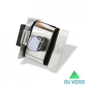 Fechadura Elétrica para Porta de Vidro HDL V/A PV90 1R B Escovada