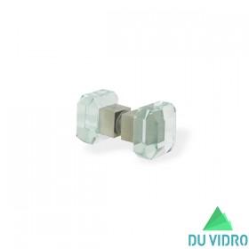 Puxador de Vidro Lapidado Quadrado