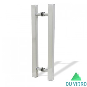 Puxador H Quadrado Alumínio